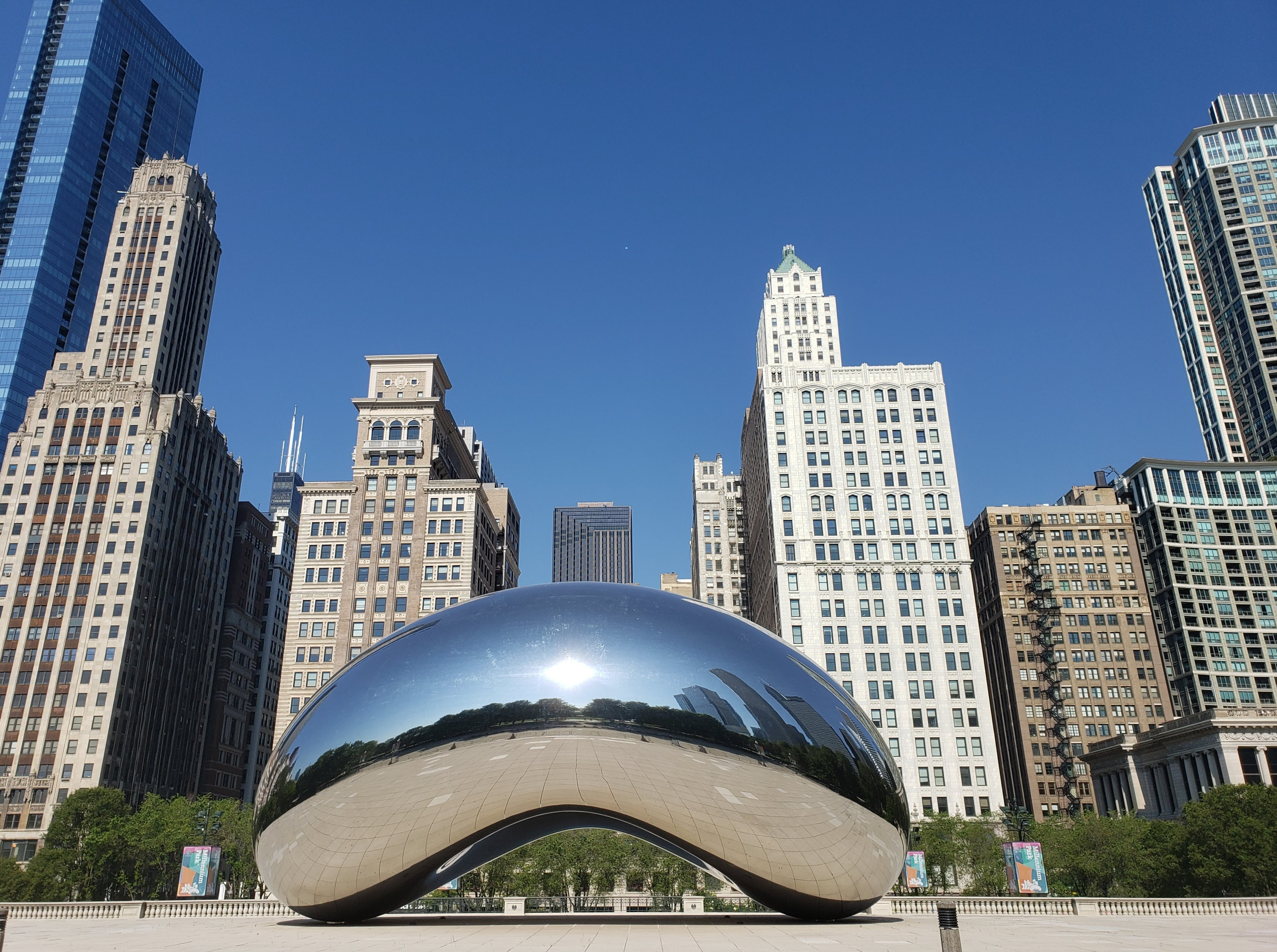 The iconic bean during the height of a global pandemic. Clicked during our final visit to (a desolate) downtown.