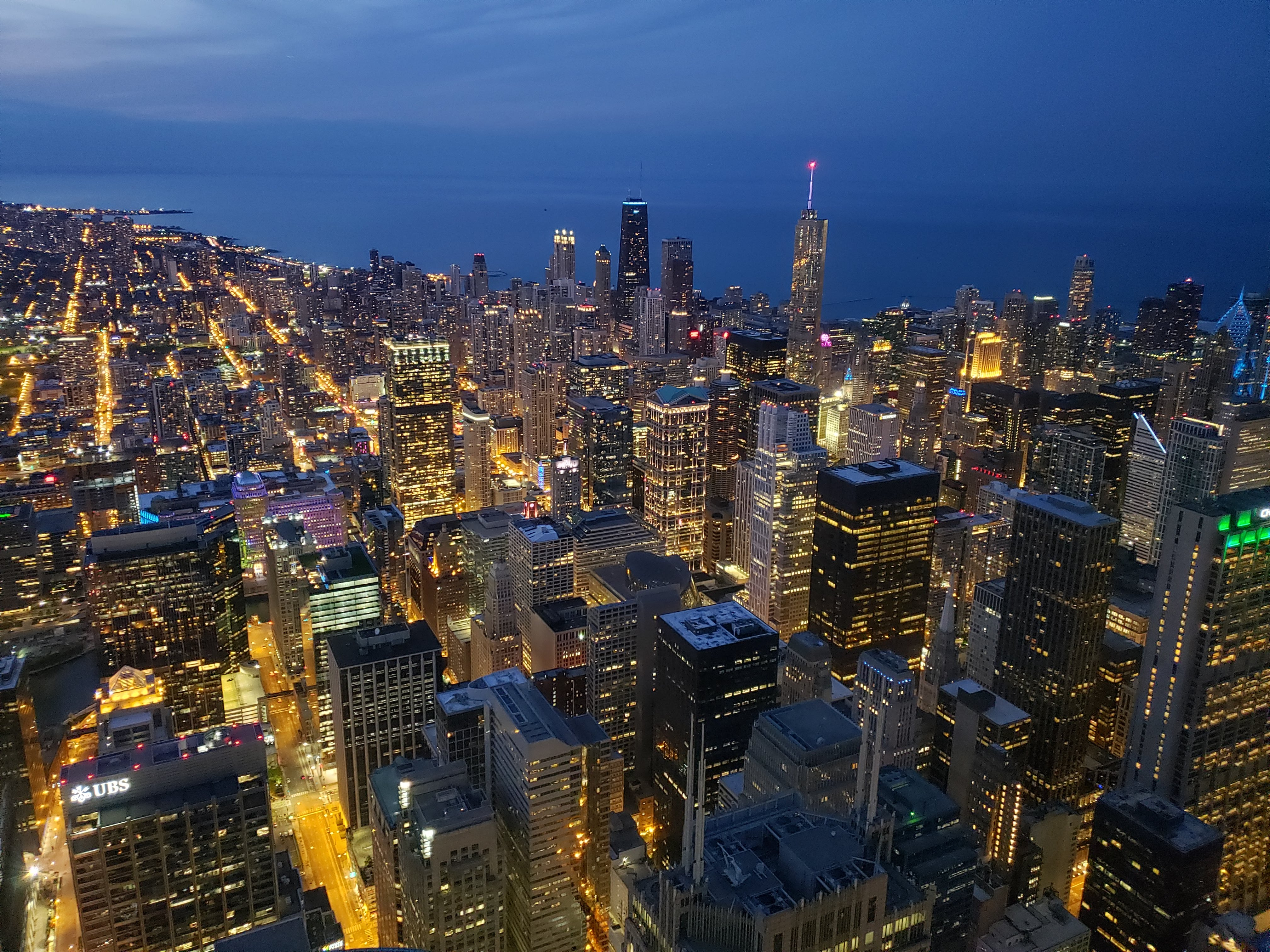 The view from Willis Tower after sunset