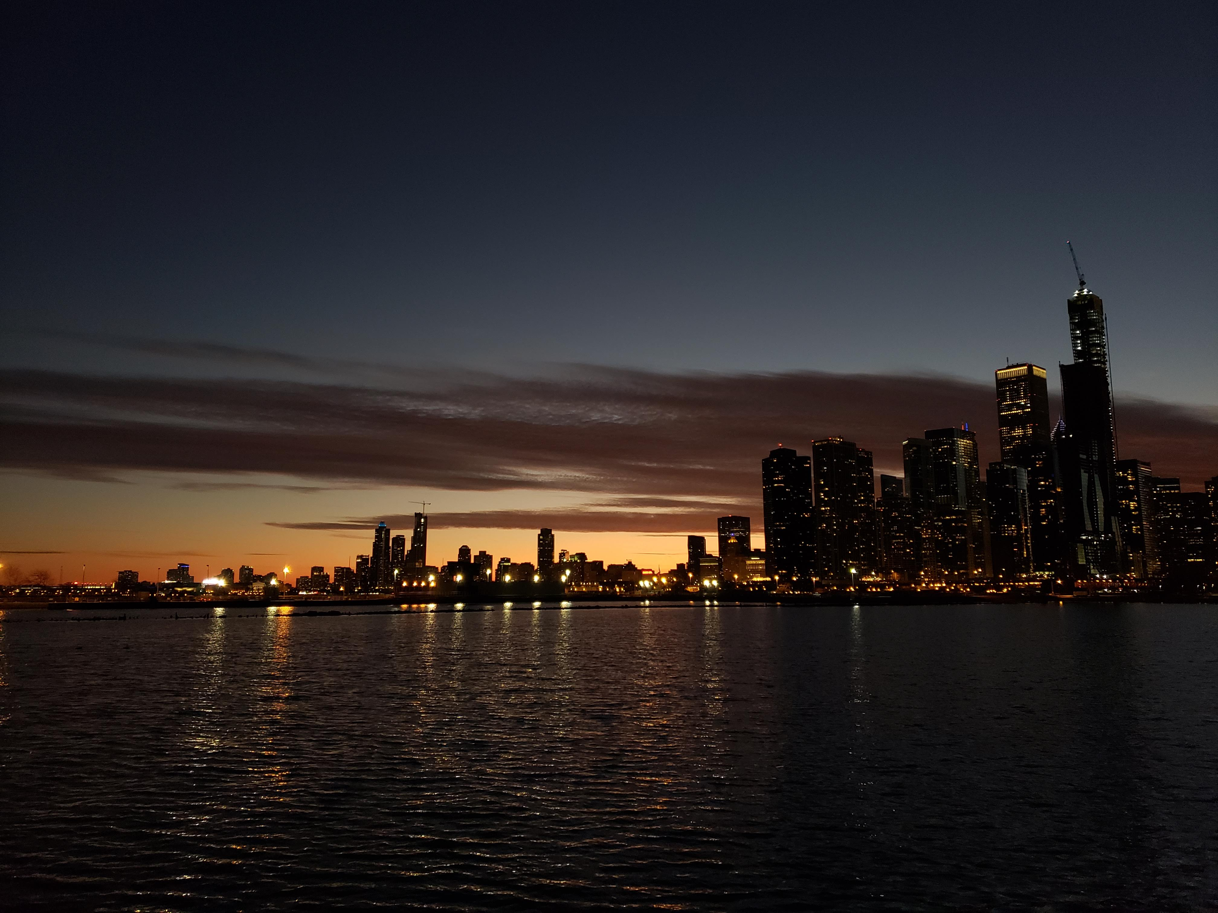 Another one of our many shots of the skyline from Navy Pier